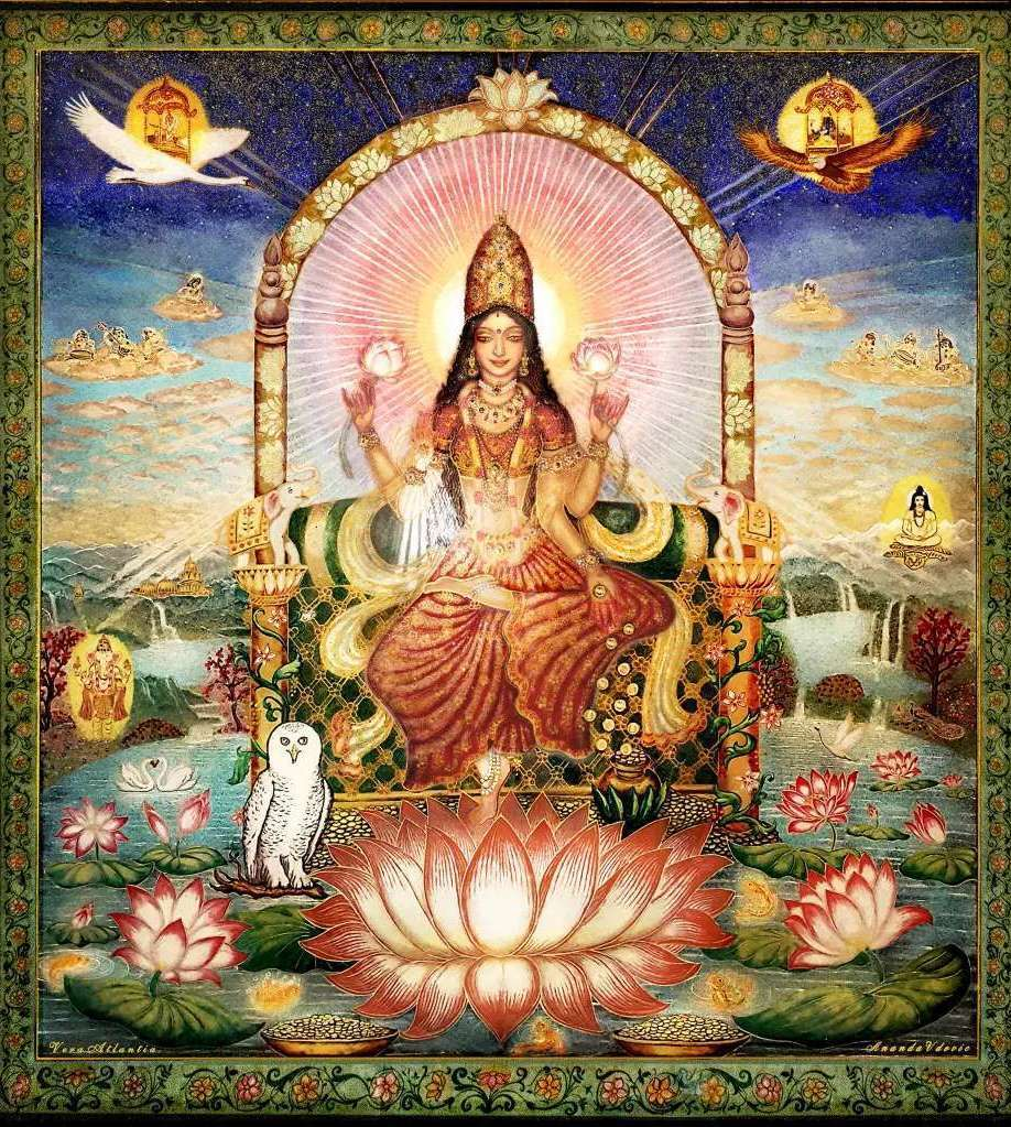 lakshmi-on-the-lotus-lit-up-from-the-front