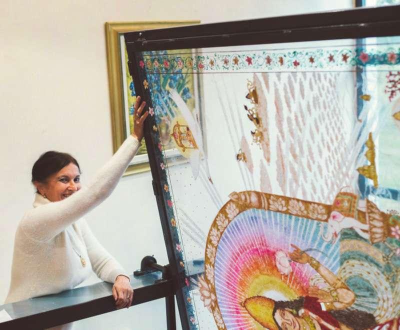 making-of-lakshmi-on-the-lotus-throne-4